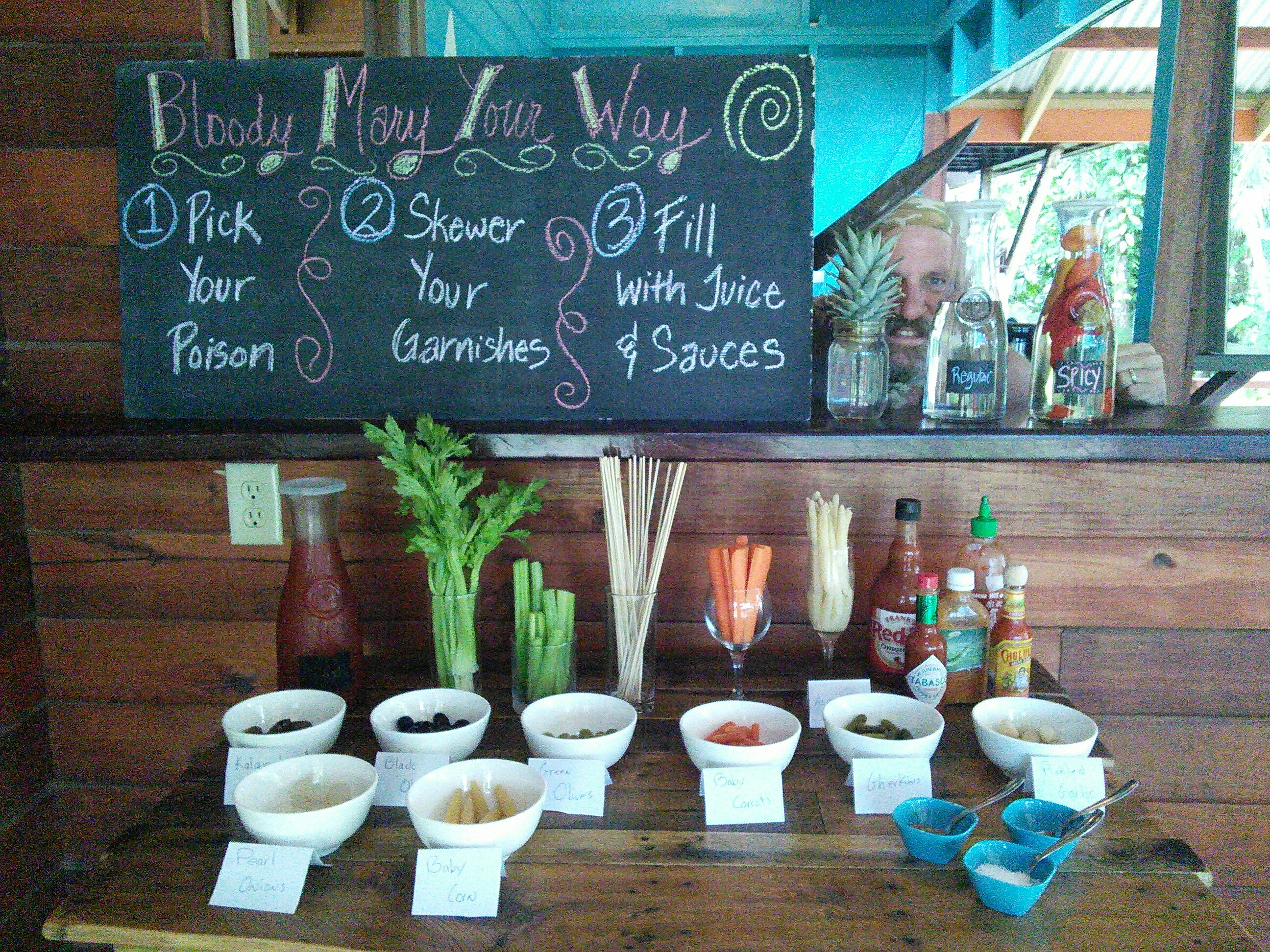Photo of Bloody Mary bar