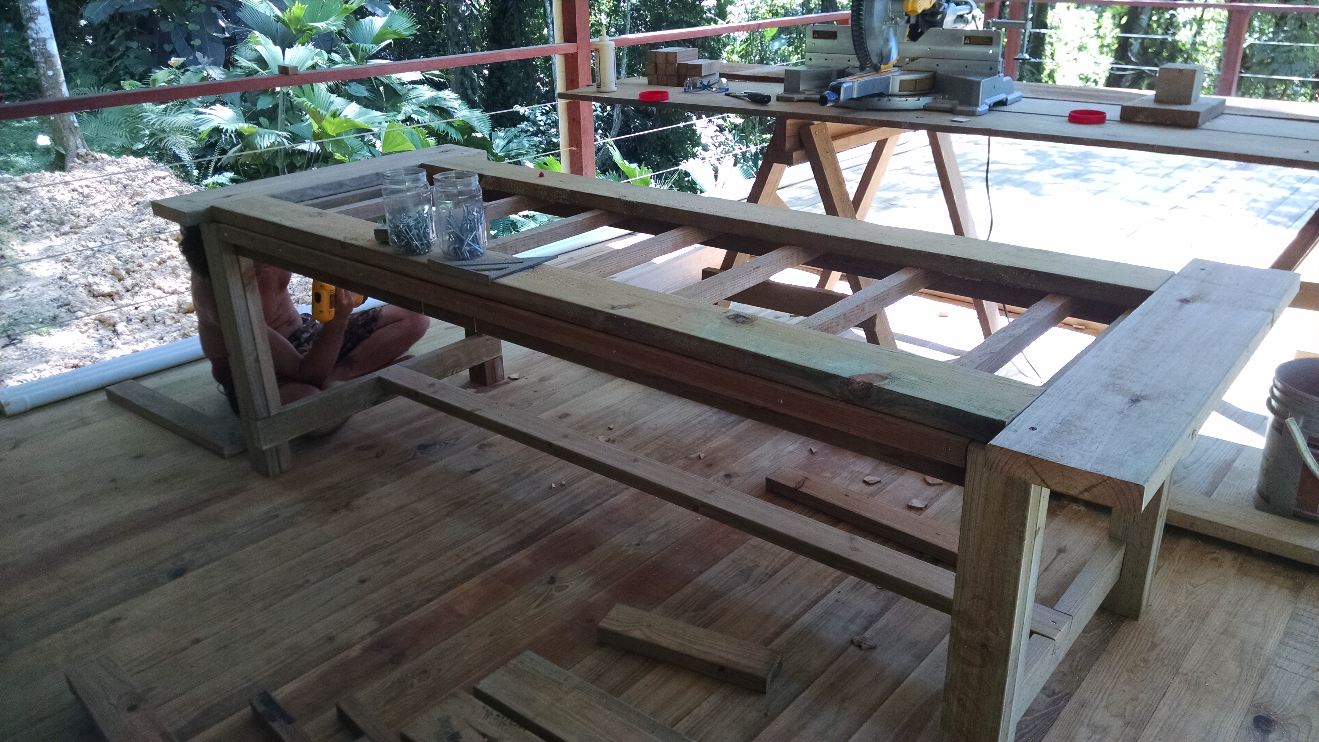 Photo of New restaurant table in progress